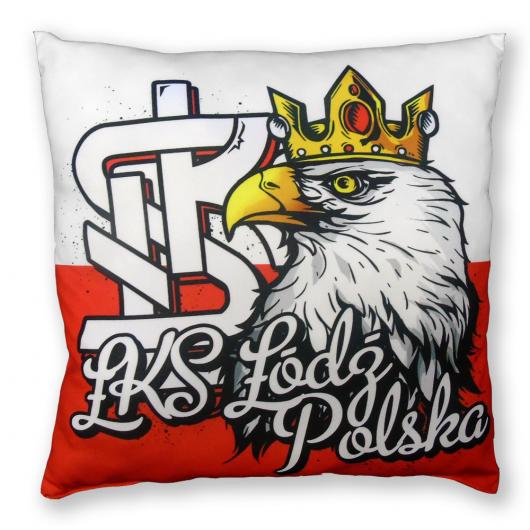 """Poduszka """"ŁKS ŁÓDŹ POLSKA"""""""