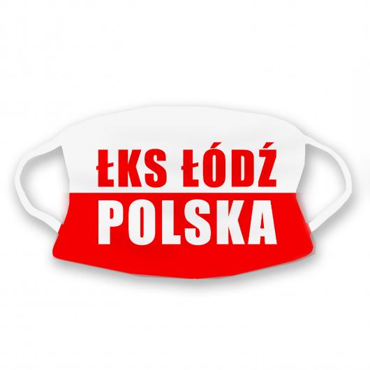 """Maseczka """"ŁKS ŁÓDŹ POLSKA"""""""