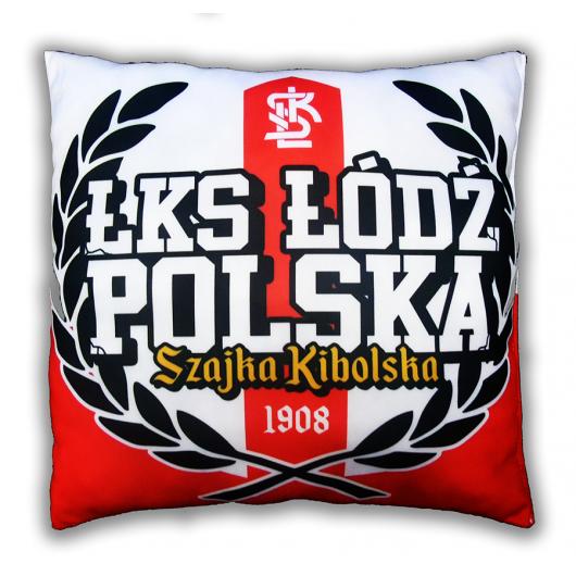 """Poduszka ŁKS """"ŁKS ŁÓDŹ POLSKA"""""""