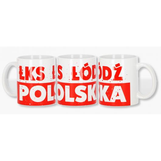 """Kubek """"ŁKS ŁÓDŹ POLSKA"""""""
